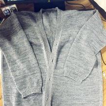 快乐编织机LK150机织云素麻棉宽松长款开衫编织经验心得