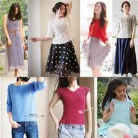 201625期周热门编织作品:女士、儿童夏季编织上衣及裙子14款