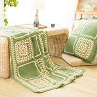 钩针和色祖母方格毯编织视频教程