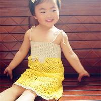 儿童钩针蕾丝吊带裙编织视频教程(4-4)吊带绳子的钩法