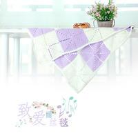 致爱丽丝方块拼花钩针宝宝毯编织视频(2-2)