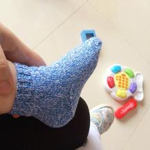 零基础棒针婴儿毛线袜的织法教程