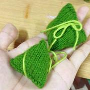 帅哥一步步教你棒针与钩针小粽子的编织方法