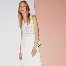 2016春夏女装周针织服饰中的虾仁、圈圈与镶嵌式钩织结合