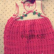 实用简单的中国风钩针宝宝背心裙
