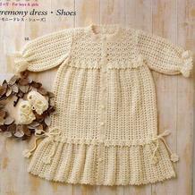 一款多样男女宝宝都适合的唯美婴幼儿钩针礼服裙套装