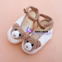 泰迪熊钩针宝宝鞋织法编织教程(2-2)泰迪熊图案的钩法