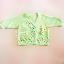 可爱的棒针宝宝斜襟系带衣