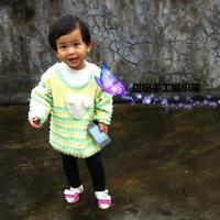 儿童钩针可卸袖的两穿毛衣编织视频(3-3)
