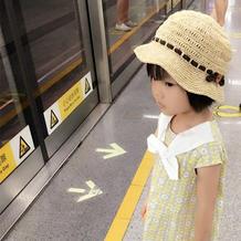 夏日遮阳扮靓儿童钩针棉草帽子