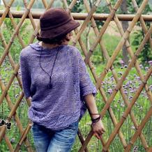 云素麻棉女士钩针别致优雅披肩式罩衫