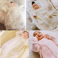毛线编织天使套装 4套棒针新生儿礼服裙套装