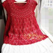 女士从上往下钩云帛Ⅱ菠萝花裙衫