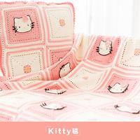钩针Kitty毯子编织视频教程(2-1)
