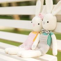 毛线玩偶编织视频教程教你钩安吉小兔玩偶
