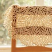 孔雀开屏钩针圆形蕾丝桌布