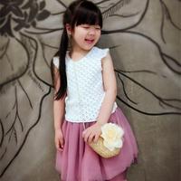 仙野蔷薇云帛Ⅱ1号荼白色女童钩针小飞袖套衫