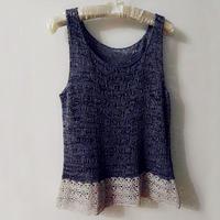 云素麻棉加云帛Ⅱ打造钩织结合时尚女士背心