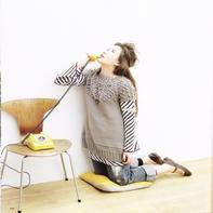 少女棒针圆肩球球款短袖毛衣裙