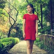 云素麻棉玫瑰色棒针女士小礼裙