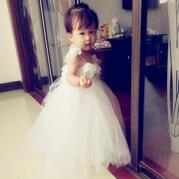 时尚仙气飘飘的宝宝钩纱结合公主裙