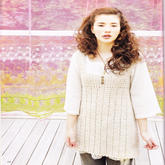 少女钩针米色长款背心裙
