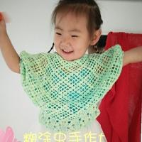 宝宝钩针蝙蝠袖短款罩衫