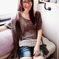 云素麻棉女士长款开衫 快乐编织机LK150作品