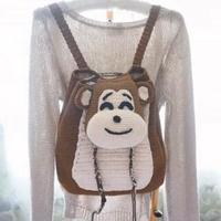 大嘴猴钩针双肩背包编织视频教程(2-1)