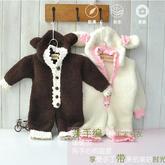 小兔小熊宝宝棒针连体衣编织视频教程(2-1)