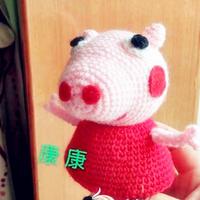 粉红猪小妹钩针小猪佩奇玩偶图解