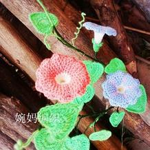 毛线编织花卉图解教程教钩牵牛花的钩法