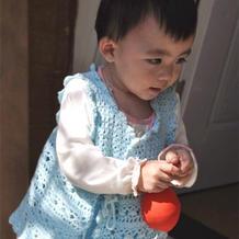 可爱叠襟裙式钩针宝宝马甲