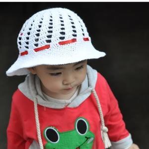 可爱女童钩针镂空遮阳帽