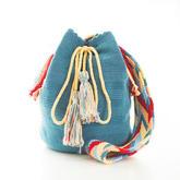 钩针束口斜挎包编织视频教程(纯色Wayuu包)