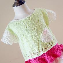 儿童萌点点钩织结合夏季短袖编织视频频教程