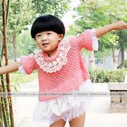 儿童时尚棒针镂空衫编织视频教程