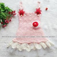 甜美可爱钩针编织儿童吊带裙编织视频教程