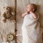 毛线编织毯与新生宝宝一起软萌萌