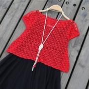 女士钩针夏季小罩衫