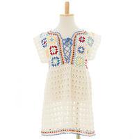 白俄罗斯风情亲子款钩针套头裙衣(2-1)
