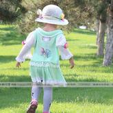 手工编织儿童春夏套装编织视频(3-1)钩织结合泡泡袖小翻领套头衫