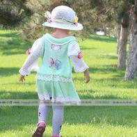 手工编织儿童春夏套装编织视频(3-3)儿童钩针蕾丝夏凉帽