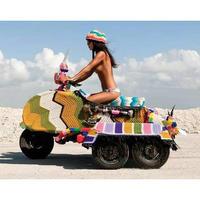 美國針織藝術家Magda Sayeg炫彩編織人生