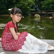 儿童钩针菠萝短袖连衣裙
