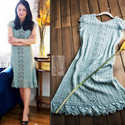 毛线球款女士钩针夏季连衣裙