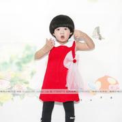 网纱蝴蝶结装饰儿童棒针背心裙编织视频教程