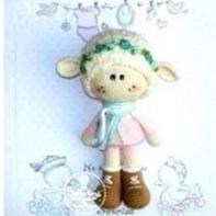 萌萌的羊妞妞玩偶编织图解教程