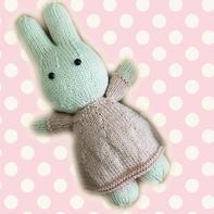 软萌棒针米菲兔玩偶图解教程