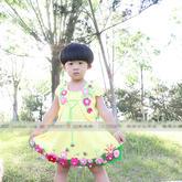 百花裙套装之儿童钩针小坎肩编织视频教程(2-1)